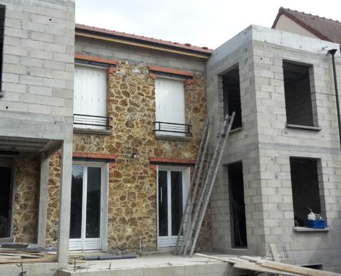 Extension de pavillon réalisée par AIT Bâtiment à Meudon (92)
