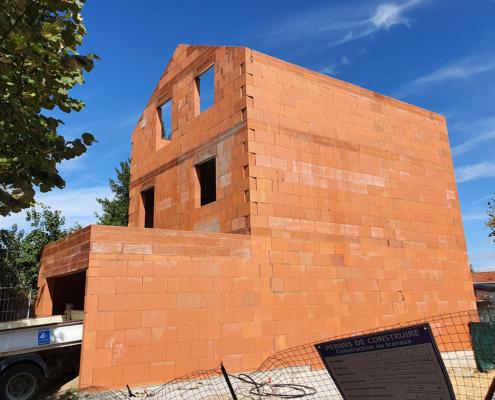 Construction d'un pavillon à Vitry-sur-Seine (94) en Bio'Bric Thermo+